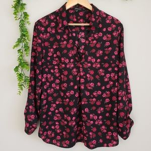 Dynamite Floral Tunic Style Blouse